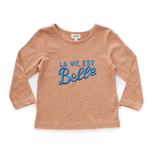 Tee Shirt-Belle/Brown-Oeuf LLC
