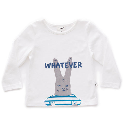 Tee Shirt-Bunny/White-Oeuf LLC