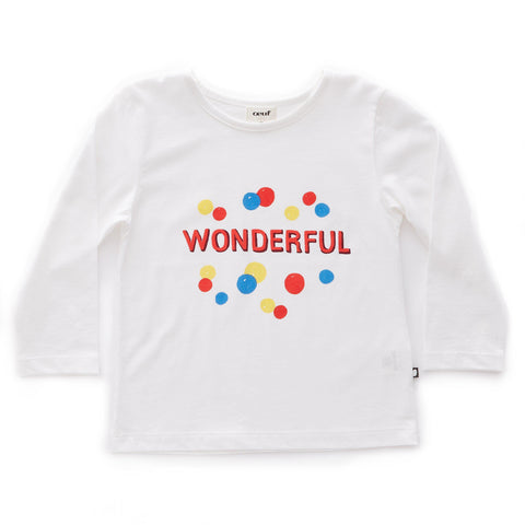 Tee Shirt-Wonderful/White-Oeuf LLC