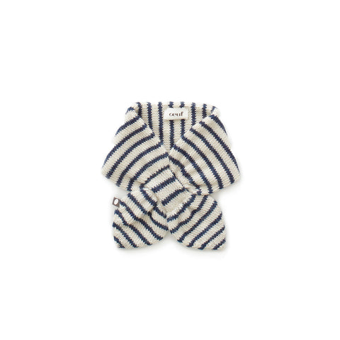 Neckie-White/Indigo Stripes-Oeuf LLC