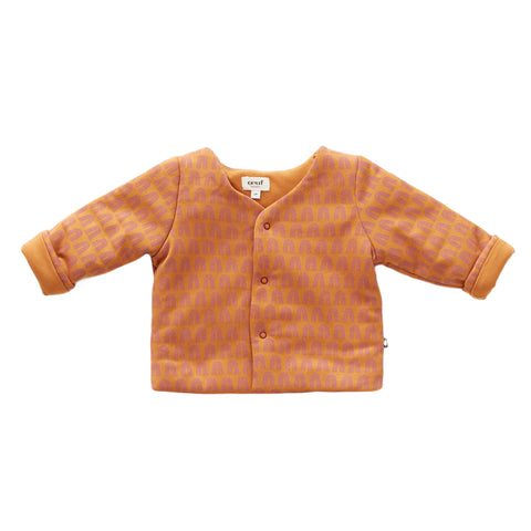 Puffy Jacket-Ochre / Rainbows-2Y-Oeuf LLC