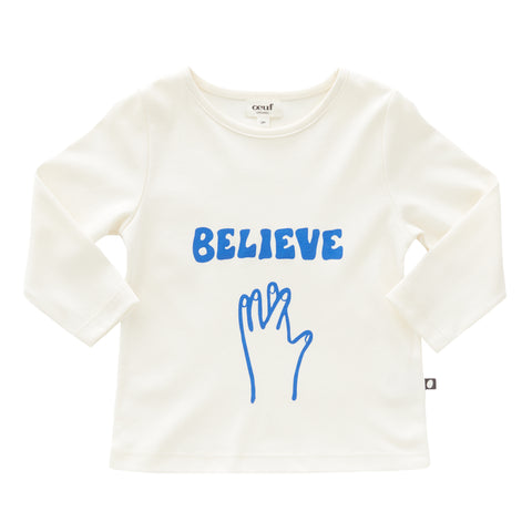 LS Tee Shirt-Believe - Oeuf LLC