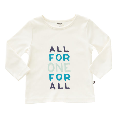 LS Tee Shirt-All For One - Oeuf LLC