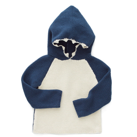 Shark Hoodie-Dark Navy/White-Oeuf LLC