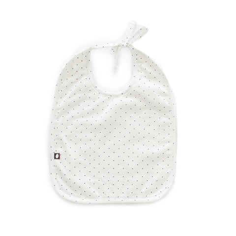 Terry Bib/Burp Cloth Set-White/Indigo Dots-Oeuf LLC