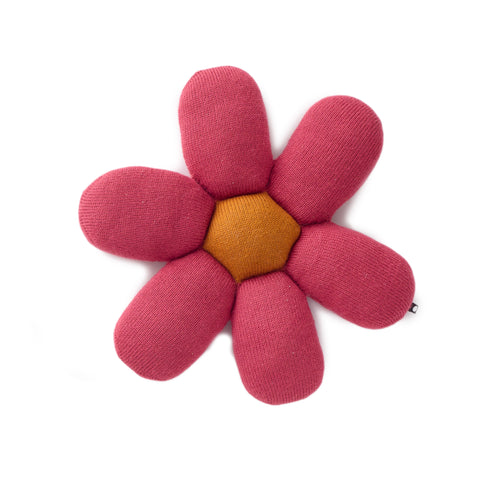 Pink Daisy Pillow-Oeuf LLC