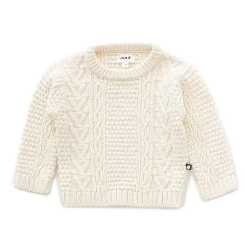 Cable Knit Sweater - Oeuf LLC
