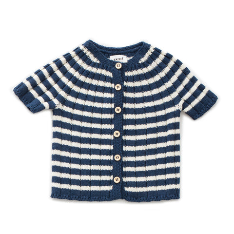 Striped Everyday Cardi - Oeuf LLC