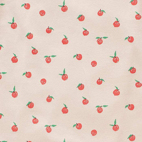 crib/toddler fitted sheet - printed-Light Pink/Peaches-Oeuf LLC