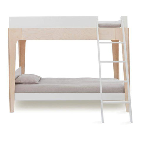 Perch Bunk Bed - TWIN-SIZE-White/Birch-Oeuf LLC