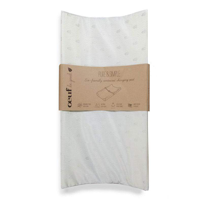 PURE & SIMPLE ECO-FRIENDLY CONTOURED CHANGING PAD - Oeuf LLC
