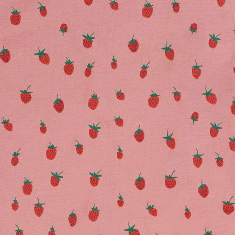 changing pad cover - printed-Dark Pink/Strawberries-Oeuf LLC