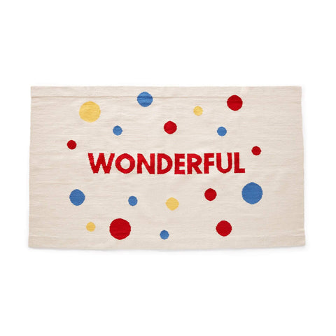 WONDERFUL RUG-WHITE/MULTI-Oeuf LLC