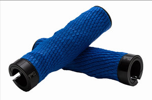 Expert Imprint Grips - Custom Mouldable Lock-On Bike Grips - Blue Rubber