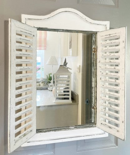 Grey  Heart Mirror white mantle stars grey vase grey wooden candle pillars