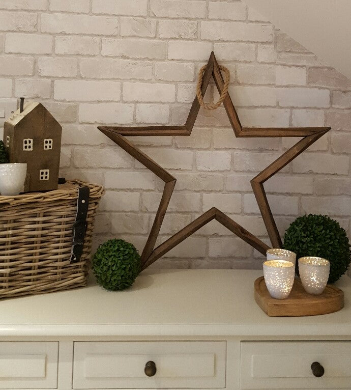 natural wooden star