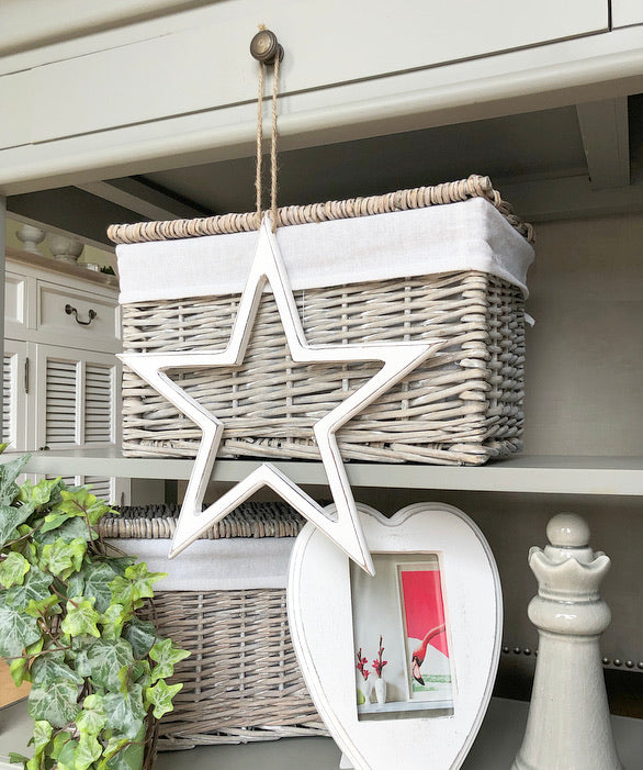 White rustic Cut Out Star
