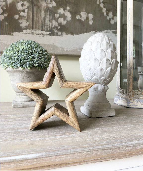 Natutural Wooden Mantle Stars
