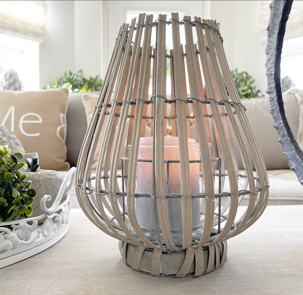 Very Pale Natural/Grey Willow Lantern