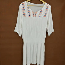White Embroidered Vintage Style Beach Cover Up Dress