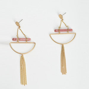 Tassel Geometric Shape Dangle Drop Earrings