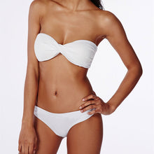 Classic Solid Bandeau Strapless Bikini In Multiple Colors