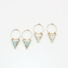 Bohemian Triangle Natural Marble Geometric Earrings