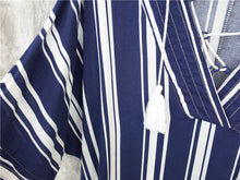Island Navy Striped Cover-Up