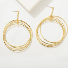 Multi Layer Drop Golden Earrings