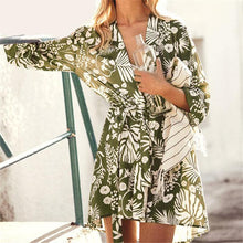Anywhere But Here Beach Floral Cover Up