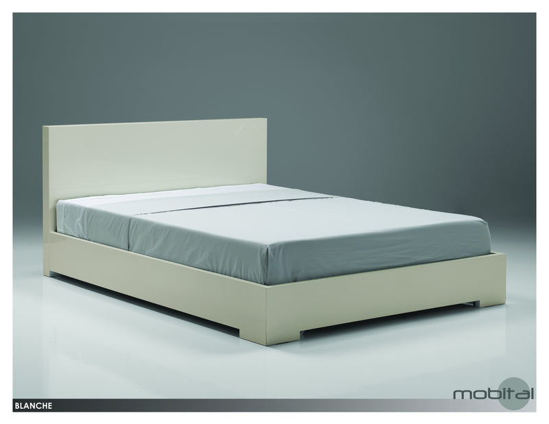Blanche Bed Single  (High Gloss Stone)