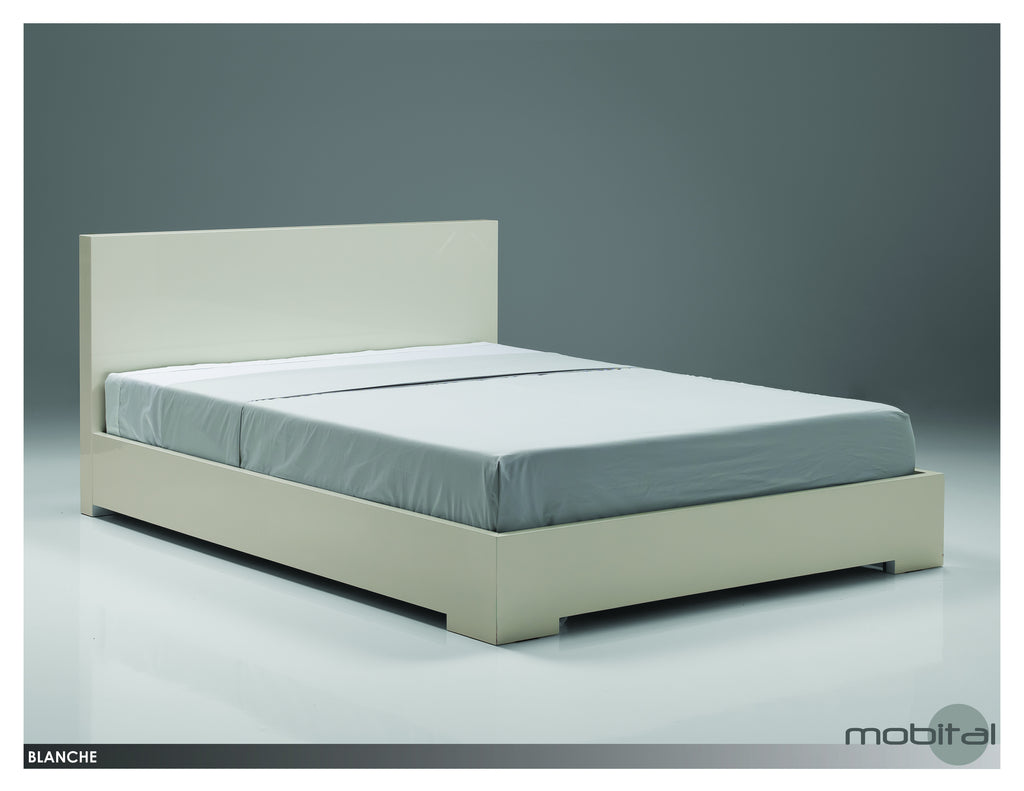 Blanche Bed King  (High Gloss Stone)