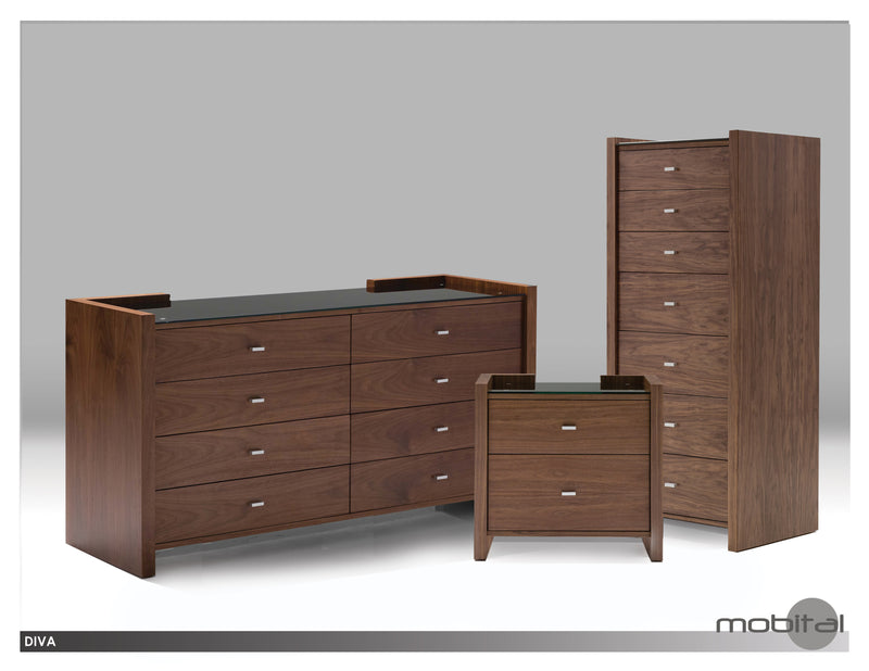 Diva Double Dresser  (Walnut)