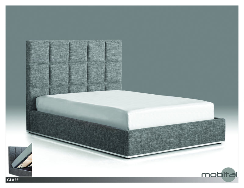 Glare Bed King  (Grey Tweed)