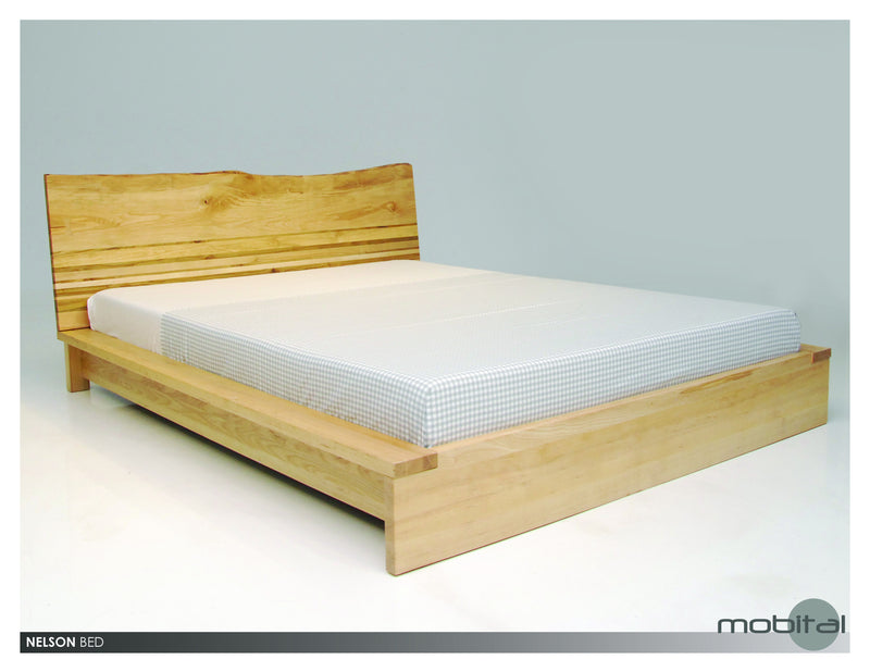 Nelson Bed Queen  (Natural Wood)