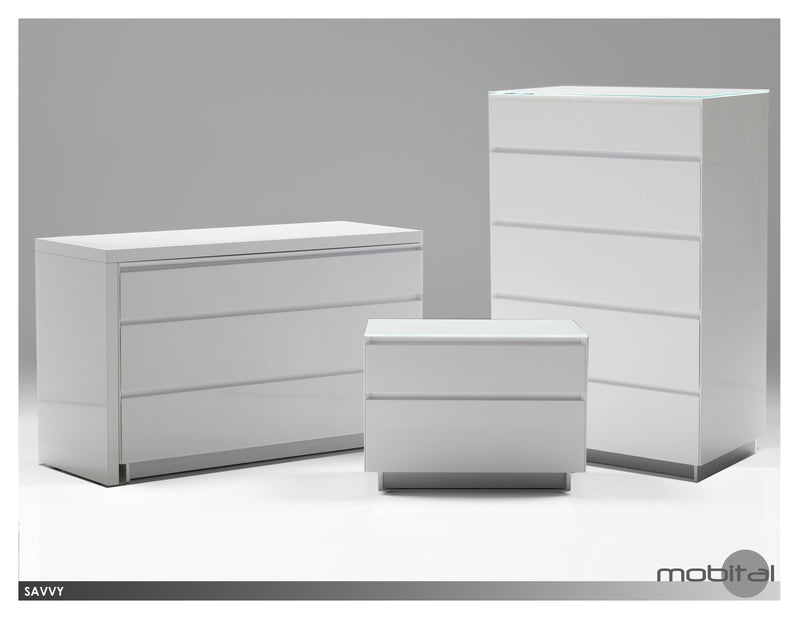 Savvy 5-dr. Chest  (High Gloss White)