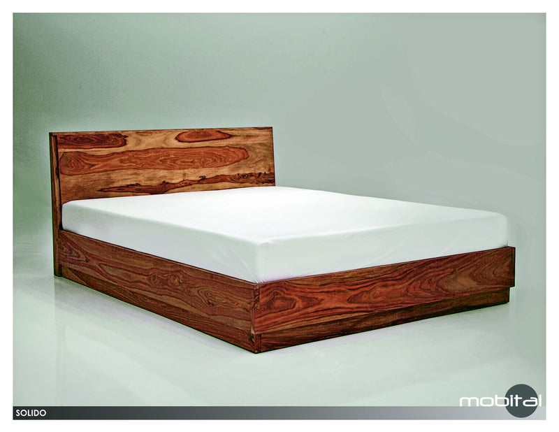 Solido Bed Queen  (Natural Wood)