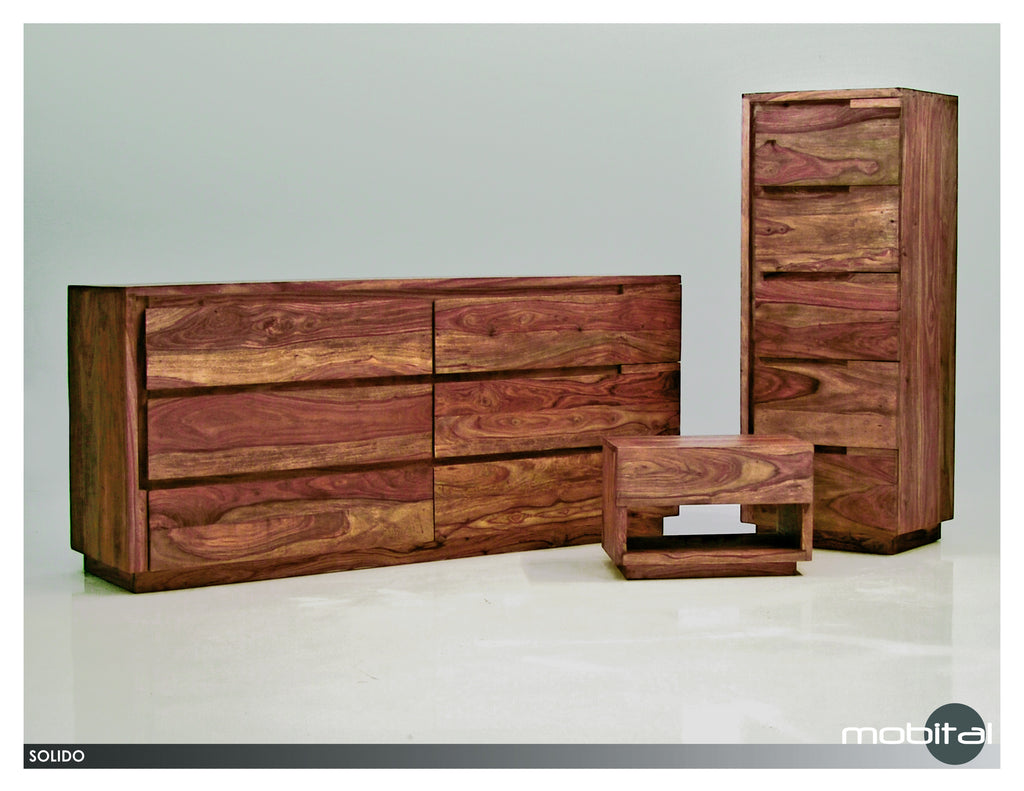 Solido Double Dresser  (Natural Wood)