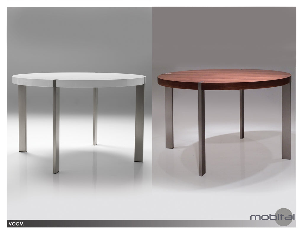 Voom Dining Table   (High Gloss White)
