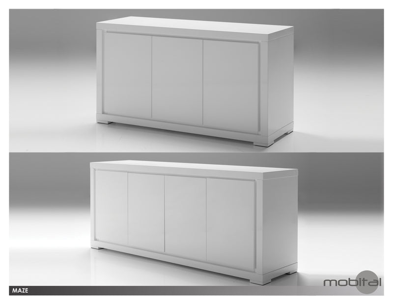 Maze Buffet 4-door  (High Gloss White)
