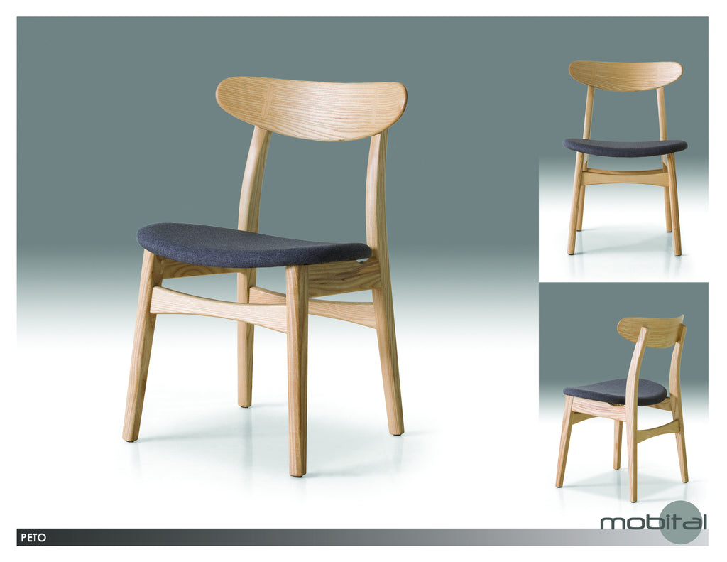 Peto Dining Chair  (Natural Wood)