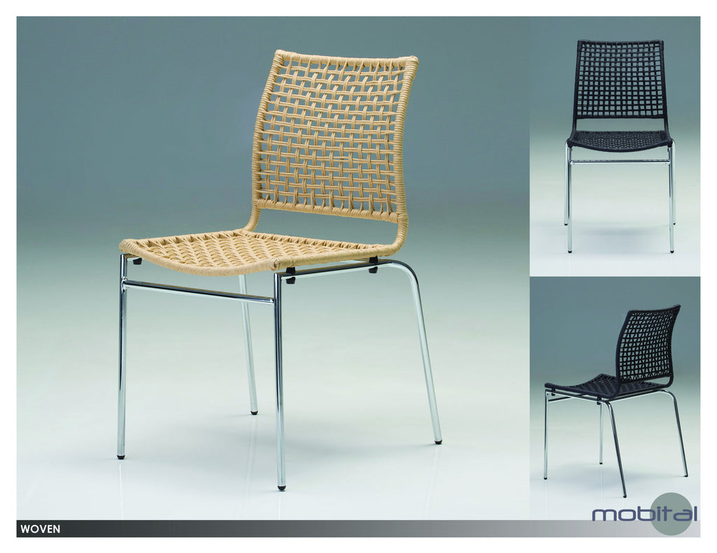 Woven Din. Chair  (Natural Wood)