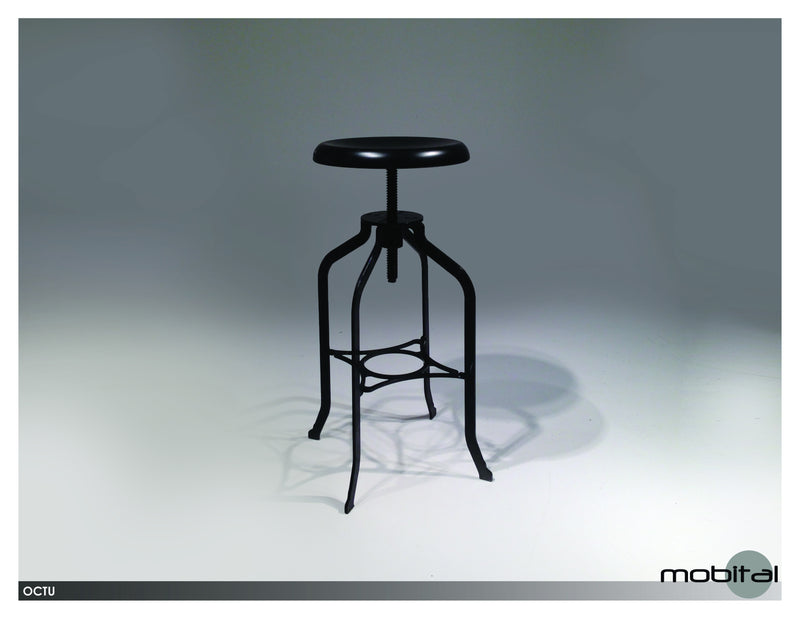 Octu Swivel Bar Stool  (Black)