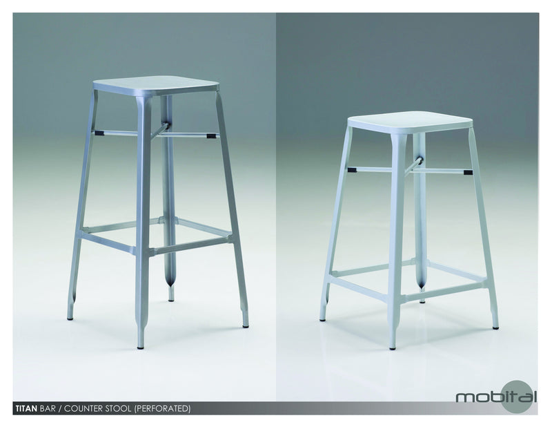 Titan Counter Stool  (White)
