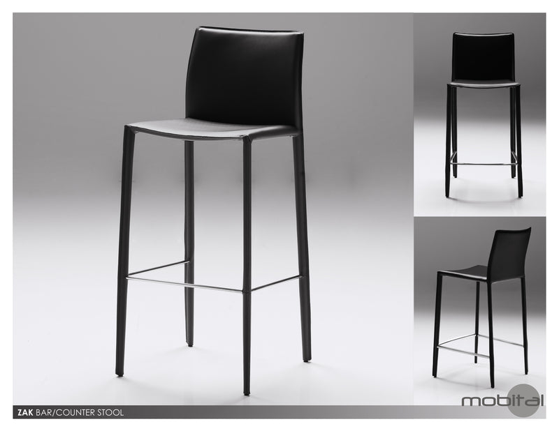 Zak Bar Stool  (Black)