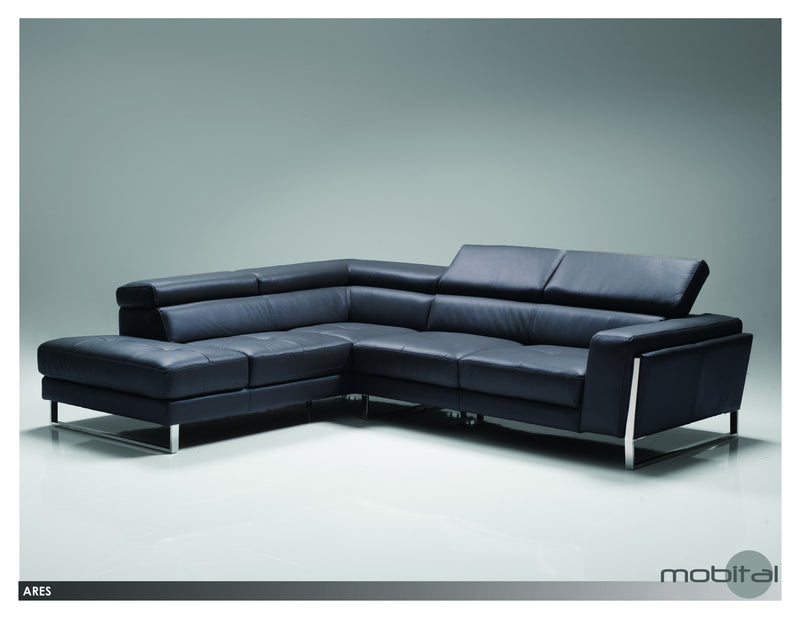 Ares Sectional Rsf Chaise  (Black)