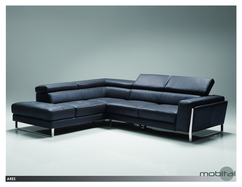 Ares Sectional Lsf Chaise  (Black)
