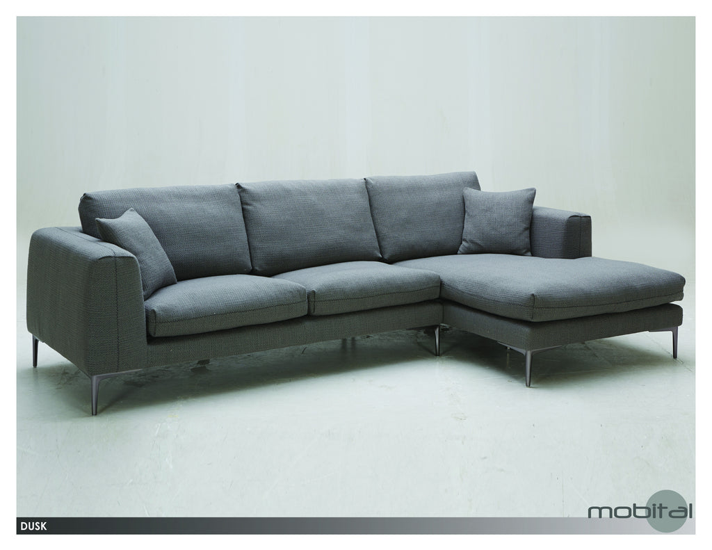 Dusk Sectional Rsf Chaise  (Grey)
