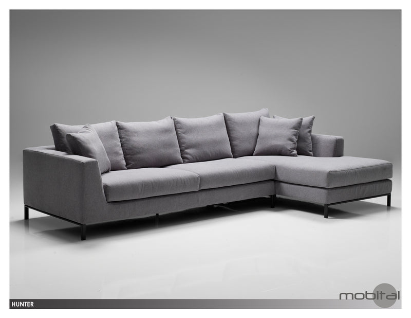 Hunter Sectional Rsf Chaise  (Grey)