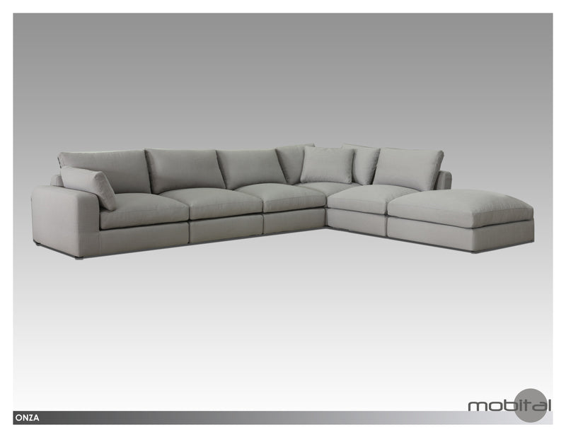 Onza Sectional Chaise Lsf  (Grey)